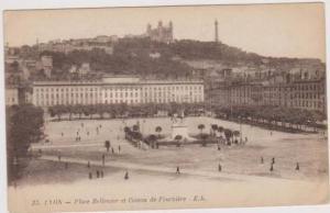Place Bellecour et Coteau de Fourviere, Lyon, Rhone, France 1900-10s