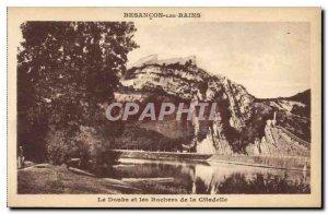 Old Postcard Besancon les Bains Doubs and the Citadel Rocks