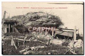 Old Postcard Verdun Command Post Ruins has Thiaumont Army