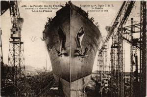 CPA St-Nazaire Paquebot Ile-de-France (610843)