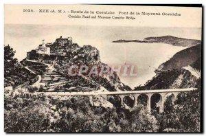 Old Postcard Eze Route de la Corniche Moyenne Corniche Bridge