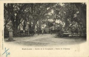 mauritius, PORT LOUIS, Jardin de la Compagnie, Statue d'Épinay (1900) Postcard