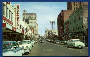 Jackson MS Capitol Street view Woolworths Wards Kress department stores postcard