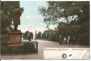 Copenhagen Denmark Frederiksberg Park pre 1907 Undivided Back Postcard Vintage