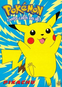 Pokemon Postcard, Pikachu Pokemon Character (PC0147) 61V