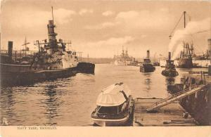 Brooklyn New York Navy Yard Harbor View Tuck Vintage Postcard JA455842