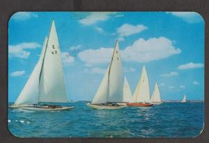 Sailboats Racing In The Great Sound, Bermuda - Used