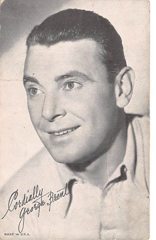 George Brent Non Postcard Backing Unused