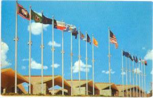 Flags at National Cowboy Hall of Fame Oklahoma City OK, Chrome