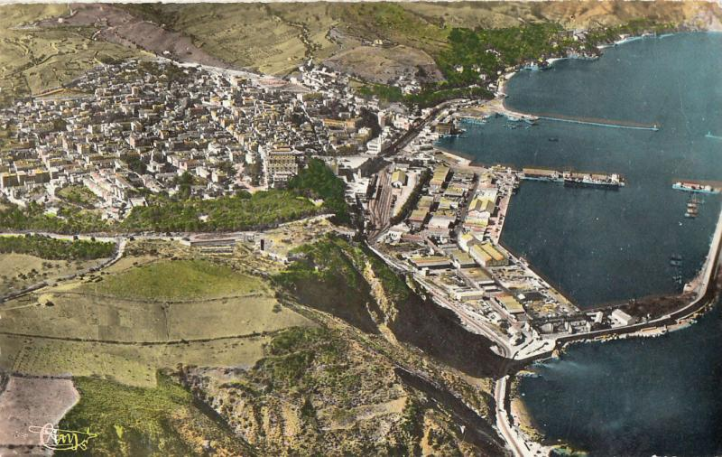 Algeria Philippeville aerial view semi-modern postcard