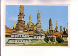 The Pagodas of The Emerald Buddha Temple, Bangkok, Thailand