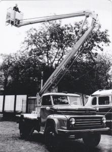 Csepel 450 Industrial Truck with man-lift platforms for truck cranes, 1960's
