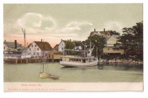South Bristol ME Harbor UDB Postcard ca 1910 G.W. Morris