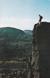 Man on top of the Mountain, Club Escalade, CHARLEVOIX, Quebec, Canada, 40-60´s