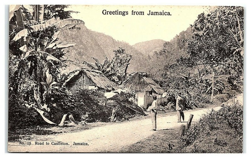 Greetings from Jamaica, Road to Castleton Postcard *7C19