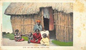 Puerto Rico Hut and Natives Detroit Publishing 1903 Postcard