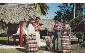 Florida Seminole Indianswith their colorful costumes, Musa Isle, 40-60s