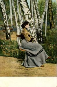 Woman -  Daydreaming by the trees
