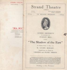 Mr Wu Strand Shadow Of The East 2x The Strand Asian Theatre Programme s