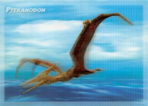 3D Dinosaur Postcard of a Pteranodon with Lenticular Mortion by MBM Systems 76U