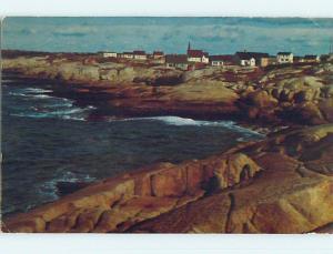 Pre-1980 TOWN VIEW SCENE Peggy's Cove - Halifax Nova Scotia NS p9574
