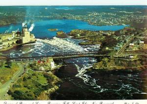 New Brunswick Canada Reversing Water Falls Bridge St John  Postcard # 6125