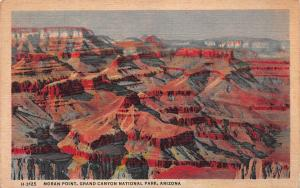 Moran Point, Grand Canyon National Park, Arizona, Early Postcard, Used in 1948