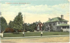 View along Kingsboro Avenue in Gloversville NY, 1914 Divided Back