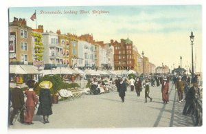 tp3852 - Sussex - Brighton - The Promenade, Looking West outside the Grand ?