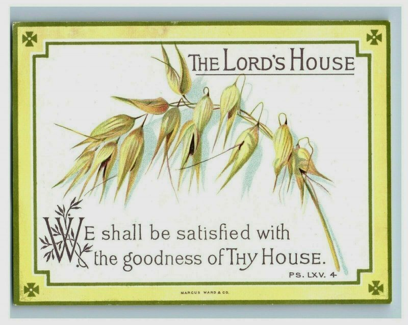 Lot Of 3 1880's The Lord's House Victorian Religious Cards Bible Quotes P152