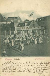curacao, D.W.I., WILLEMSTAD, La Elegancia, Native Women Fruit Sellers (1904)