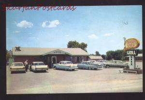 GROOM TEXAS ROUTE 66 1962 CADILLAC CARS RESTAURANT ADVERTISING POSTCARD