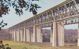 Twin Bridges over Cuyahoga River, Ohio Turnpike 1940-60s