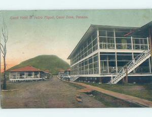 1912 postcard CANAL HOTEL AT PEDRO MIGUEL Panama City Panama F6703