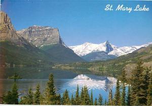 St Mary Lake Wild Goose Island Glacier Nationsal Park Montana  Postcard  # 7427