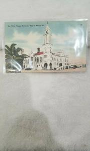 Antique Postcard, The White Temple Methodist Church, Miami, Fla.