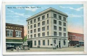 Marion State & Savings Bank Illinois 1920s postcard
