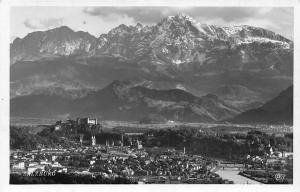 Salzburg Gesamtansicht River Bridges Mountain Panoramic view