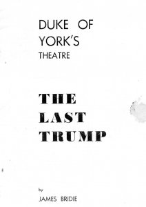 The Last Trump Seymour Hicks Duke Of Yorks Theatre Programme