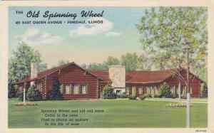 Old Spinning Wheel, HInsdale, Illinois, 30-40s