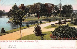 The Lake at West Side Park, Paterson, New Jersey, Early Postcard, Used in 1905