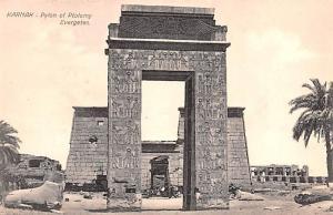 Karnak Egypt, Egypte, Africa Pylon of Ptolemy Evergetes Karnak Pylon of Ptole...
