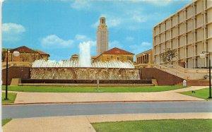 Austin Texas 1960s Postcard East Mall Fountain University Of Texas