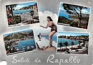 Italy Saluti da Rapallo Gruesse 1957