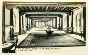 Chicago Illinois Passagio Edgewater Beach Hotel Interior C-1910 Postcard 11116