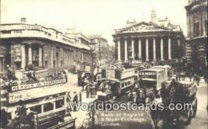United Kingdom, UK, England, Great Britain Bank of England & Royal Exchange L...