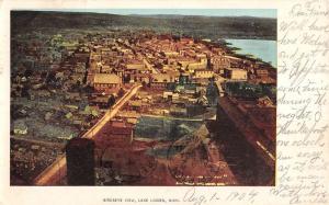 Lake Linden Michigan Birdseye View Of City Antique Postcard K104932
