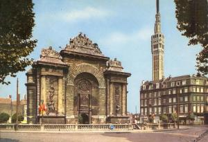 France, Lille, Porte de Paris et Beffroi, 1966 marked unused