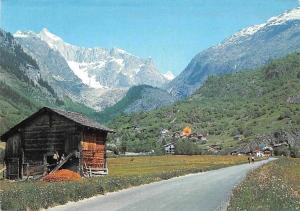 Switzerland Fieschertal (Wallis) Cabin General view Mountains