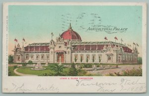 Portland Oregon~Lewis & Clark Exposition~Agriculture Palace~John Carter~Postcard